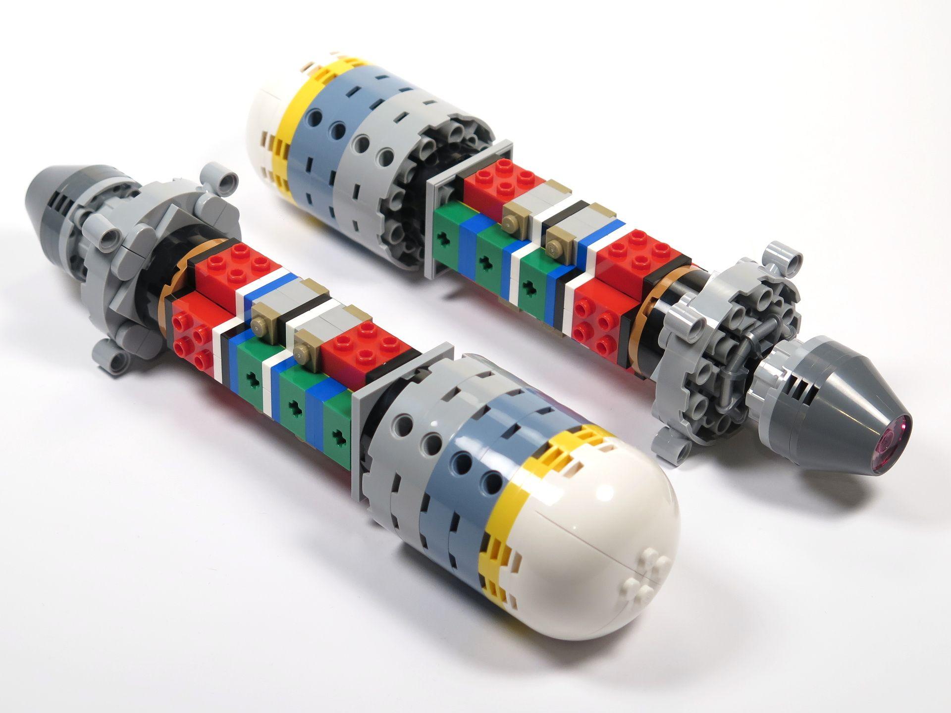 LEGO® Star Wars™ UCS Y-Wing Starfighter - Bauabschnitt 4 - Triebwerk ohne Verkleidung 2 | ©2018 Brickzeit