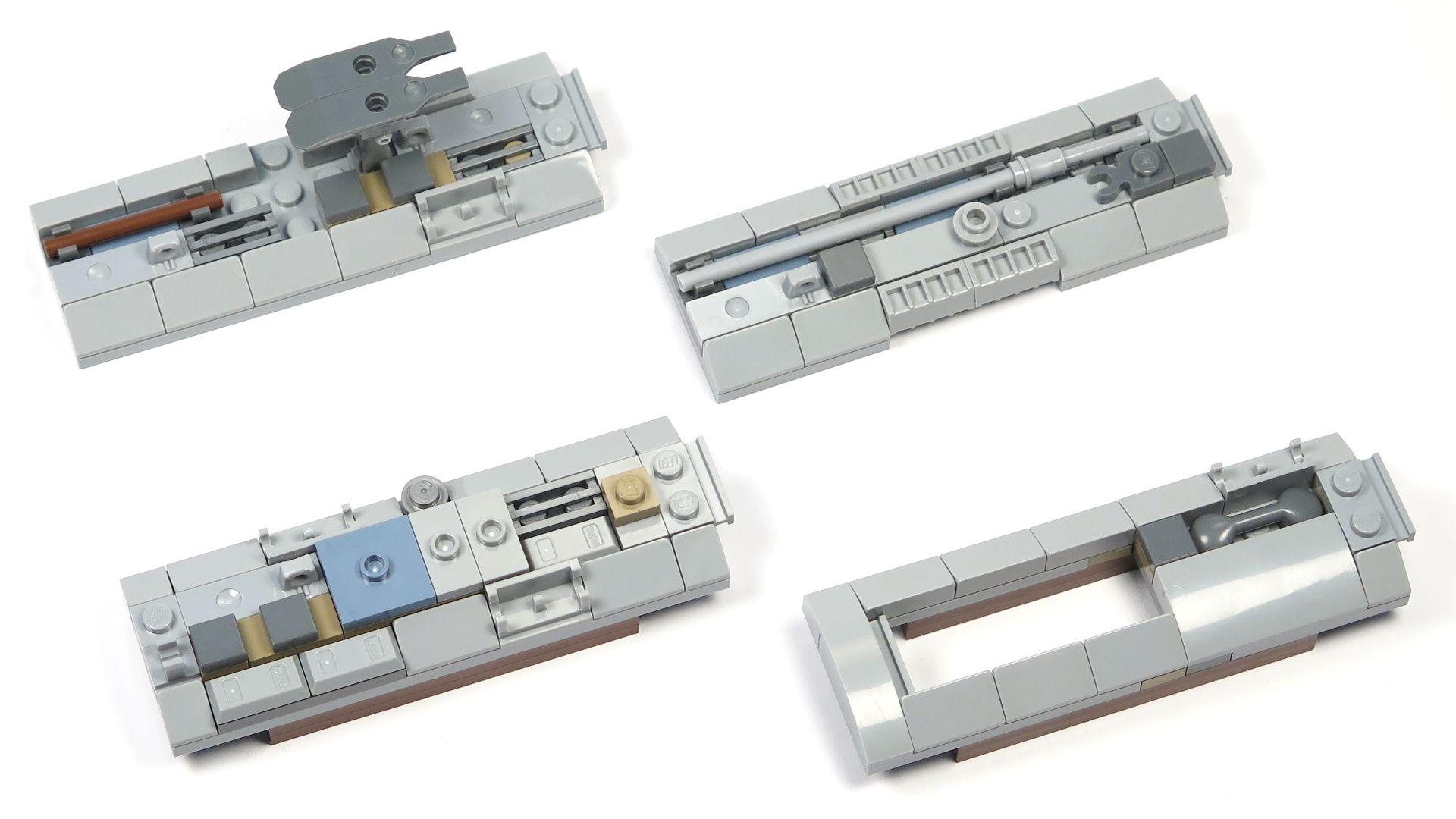 LEGO® Star Wars™ UCS Y-Wing Starfighter - Bauabschnitt 4 - Seitenteile vom Triebwerk | ©2018 Brickzeit