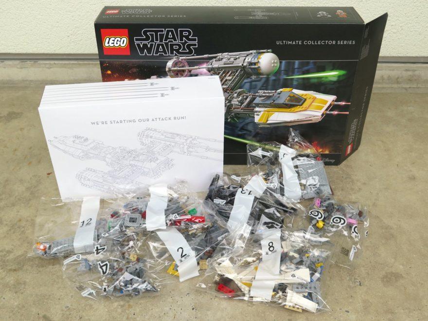 LEGO® Star Wars™ UCS Y-Wing Starfighter (75181) - Inhalt teilweise | ©2018 Brickzeit