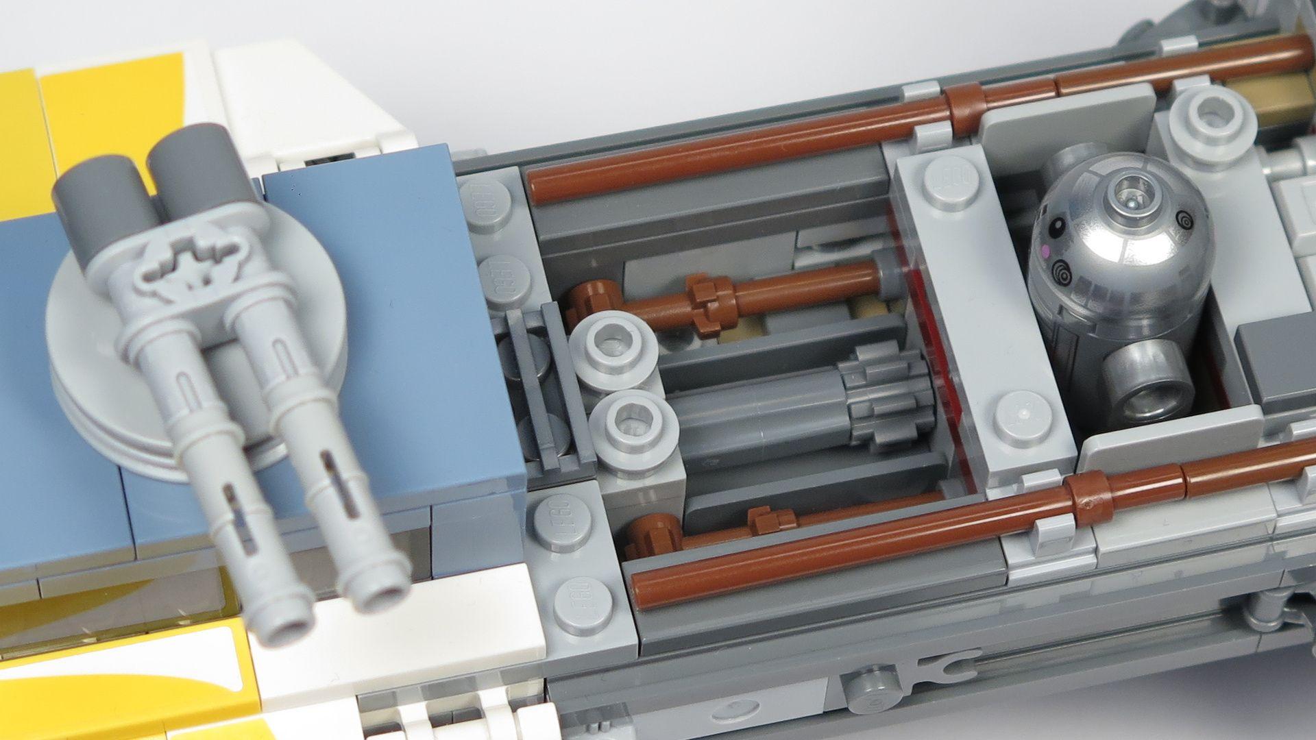 LEGO® Star Wars™ UCS Y-Wing Starfighter - Kanone mit Drehmechanismus | ©2018 Brickzeit