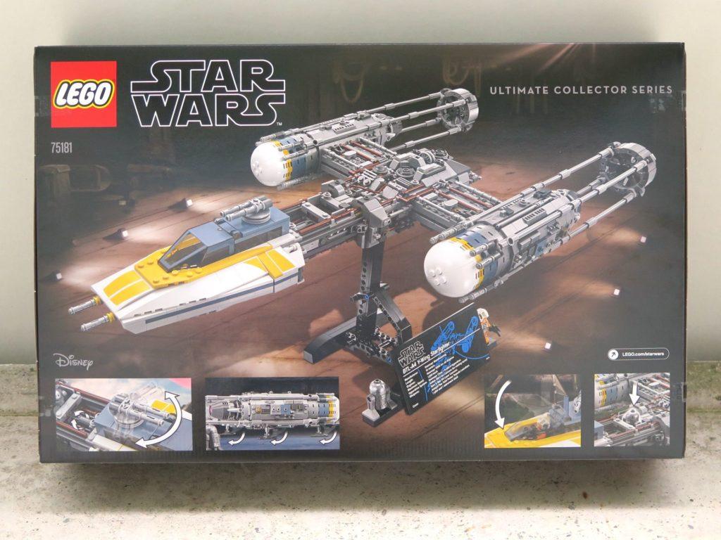 LEGO® Star Wars™ UCS Y-Wing Starfighter (75181) - Packung Rückseite 2 | ©2018 Brickzeit