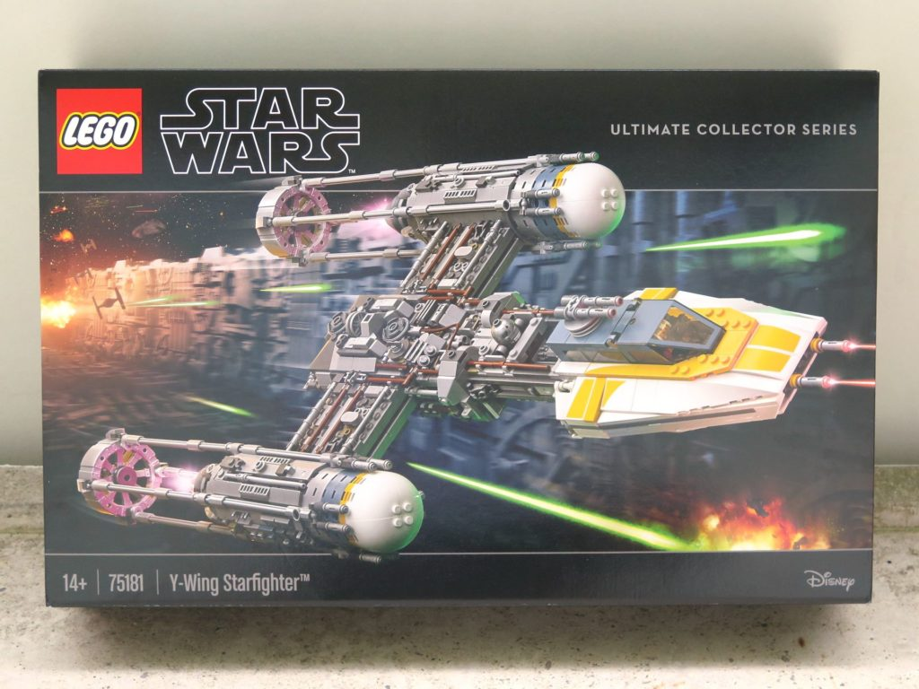 LEGO® Star Wars™ UCS Y-Wing Starfighter (75181) - Packung Vorderseite 2 | ©2018 Brickzeit