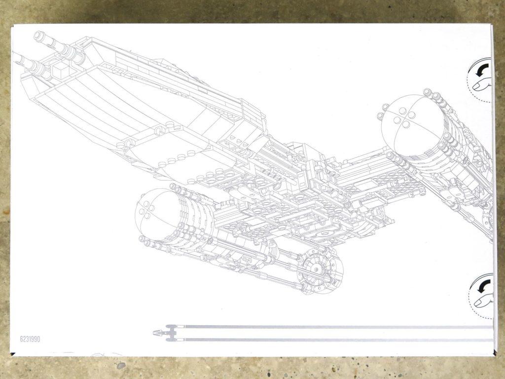 LEGO® Star Wars™ UCS Y-Wing Starfighter (75181) - Weiße Kiste Rückseite | ©2018 Brickzeit