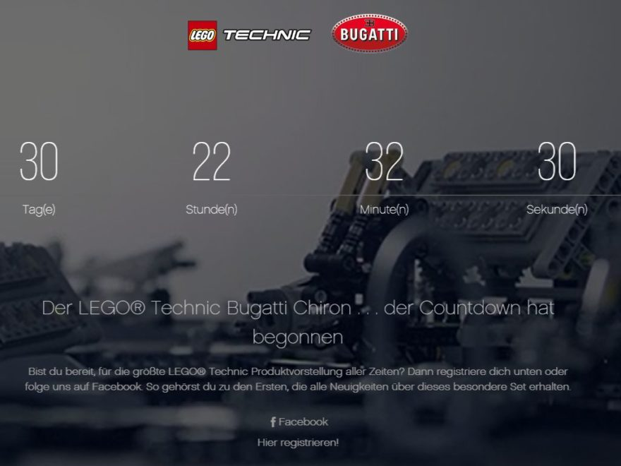 LEGO® Technic Bugatti Chiron (42083) - Countdown | ©LEGO Gruppe