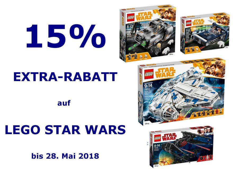 myToys LEGO® Star Wars™ 15% Extra-Rabatt bis 28.05.2018 | ©Brickzeit