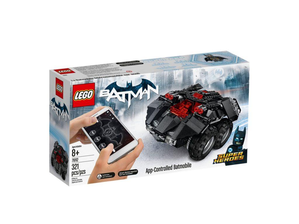 LEGO® DC Comics Super Heroes App-Gesteuertes Batmobile (76112) - Packung, Vorderseite | ©2018 LEGO Gruppe
