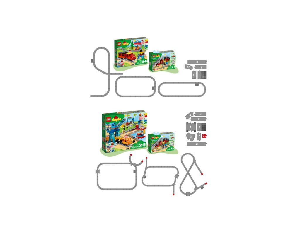 LEGO® DUPLO® Eisenbahnbrücke und Schienen (10872) | ©LEGO Gruppe