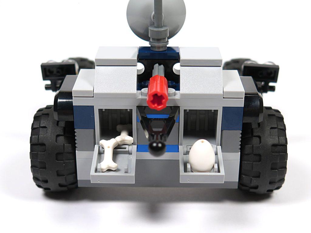 LEGO® Jurassic World Carnotaurus (75929) - Bauabschnitt 3 - Anhänger, Vorderseite mit offenen Fächern | ©2018 Brickzeit