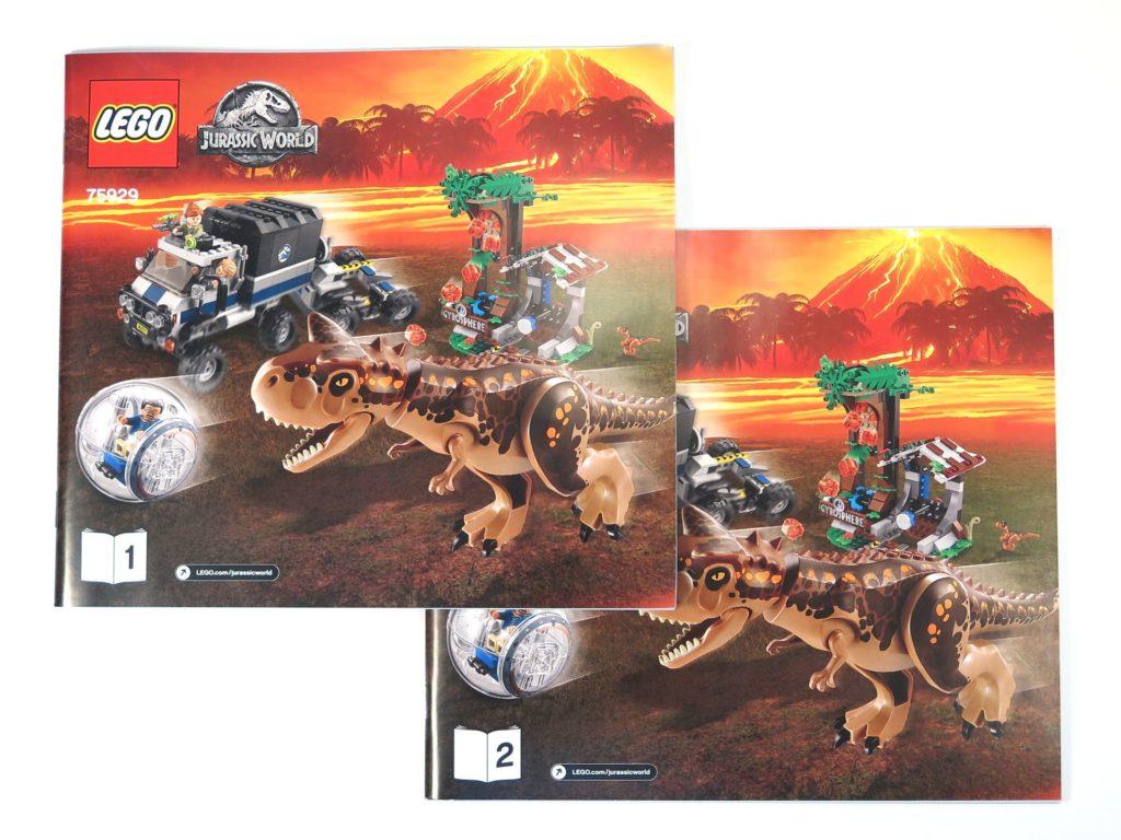LEGO® Jurassic World Carnotaurus (75929) - Inhalt - Anleitungen | ©2018 Brickzeit