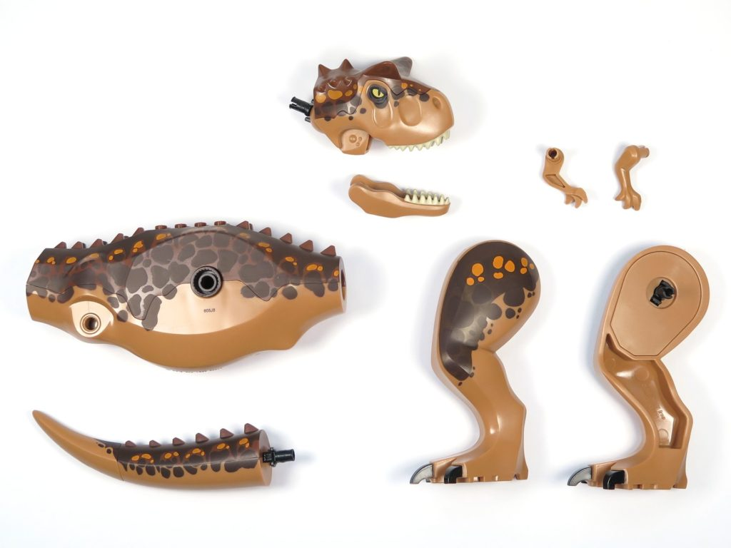 LEGO® Jurassic World Carnotaurus (75929) - Inhalt - Saurier Einzelteile | ©2018 Brickzeit