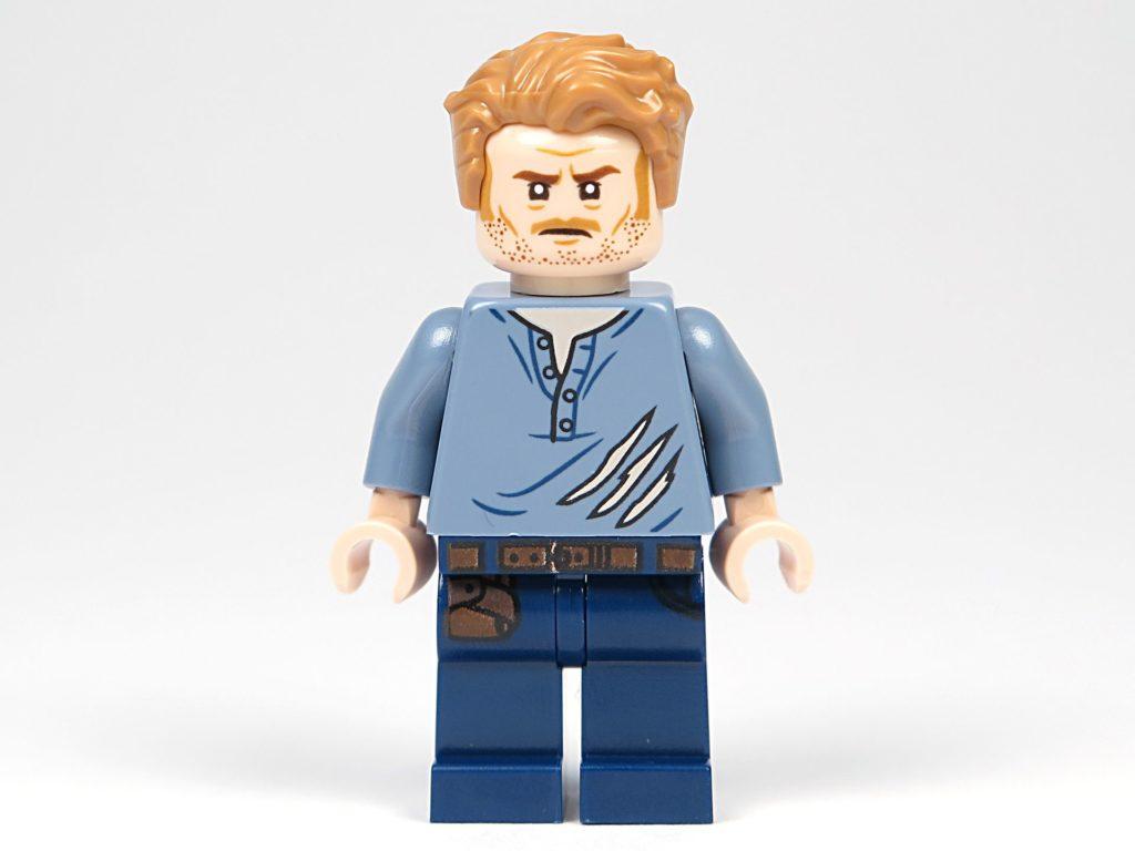 LEGO® Jurassic World Carnotaurus (75929) - Minifigur Owen, alternatives Gesicht | ©2018 Brickzeit