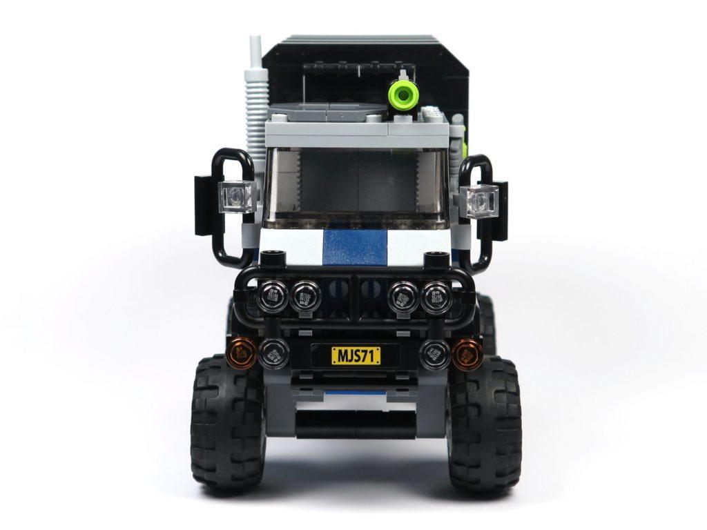 LEGO® Jurassic World Carnotaurus (75929) - Truck, Vorderseite | ©2018 Brickzeit