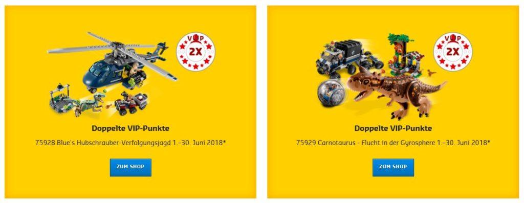 Doppelte LEGO® VIP-Punkte auf Jurassic World Set 75928 und 75929 | ©LEGO Gruppe
