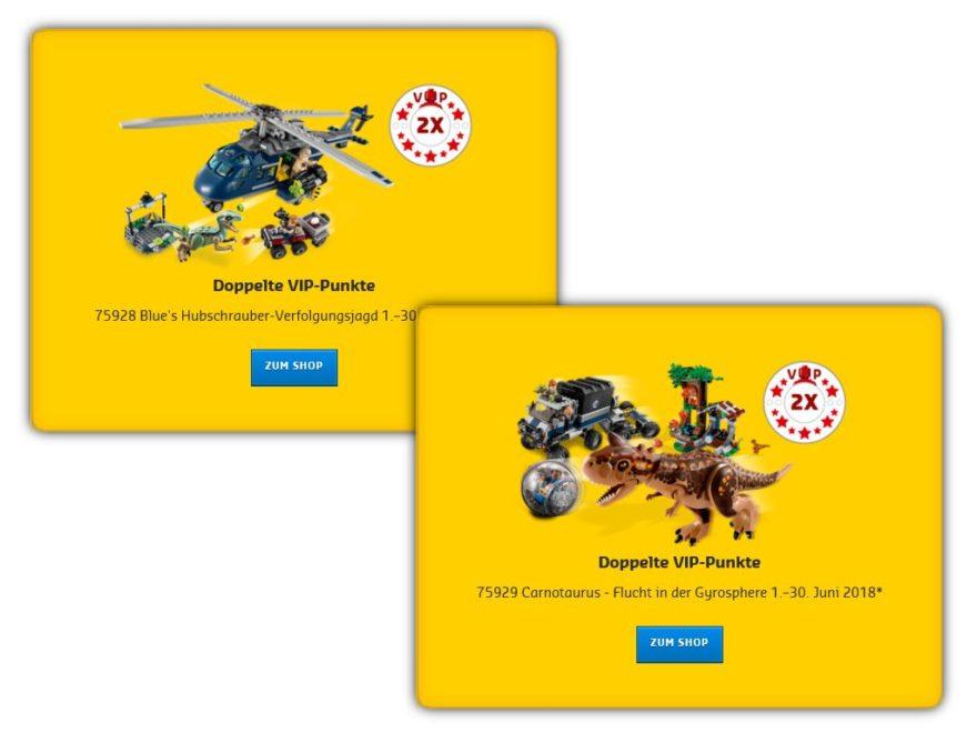 Doppelte LEGO® VIP-Punkte auf Jurassic World Set 75928 und 75929 Titelbild | ©LEGO Gruppe