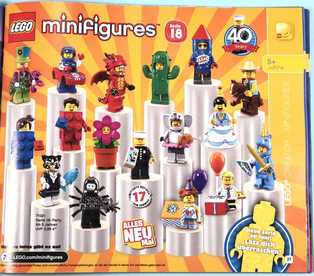 LEGO® Katalog zweites Halbjahr 2018 - LEGO® Minifiguren - Seite 1 | ©LEGO Gruppe