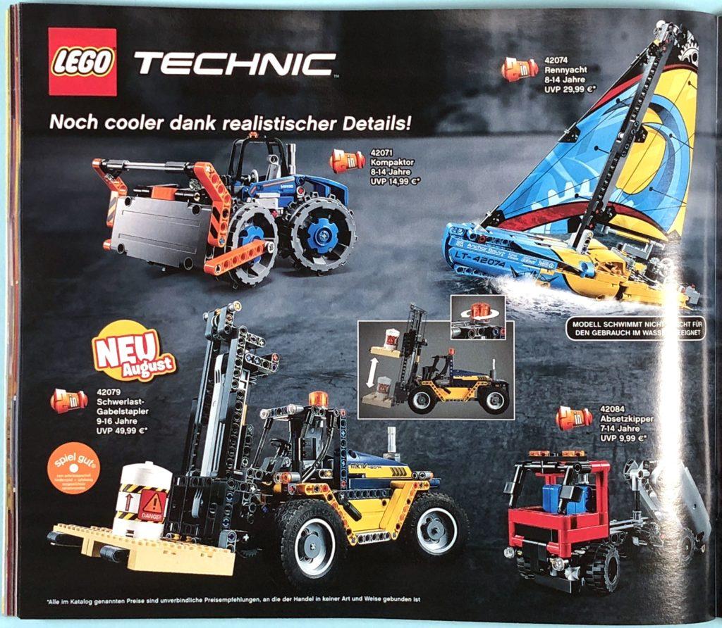 LEGO® Katalog zweites Halbjahr 2018 - LEGO® Technic - Seite 1 | ©LEGO Gruppe