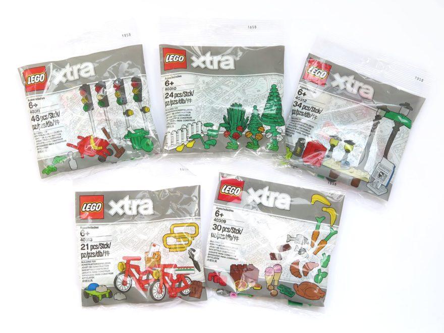 LEGO® xtra Polybags 40309 bis 40313 - Titelbild | ©2018 Brickzeit
