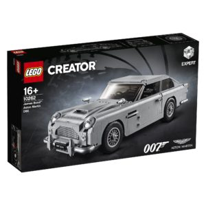 10262_LEGO-Creator-Expert_James-Bond-Aston-Martin-DB5_Packung-mit-Produkt | ©2018 LEGO Gruppe