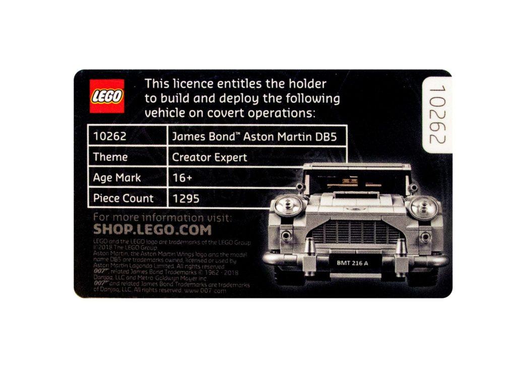 Licence to Build - Rückseite   ®LEGO Gruppe