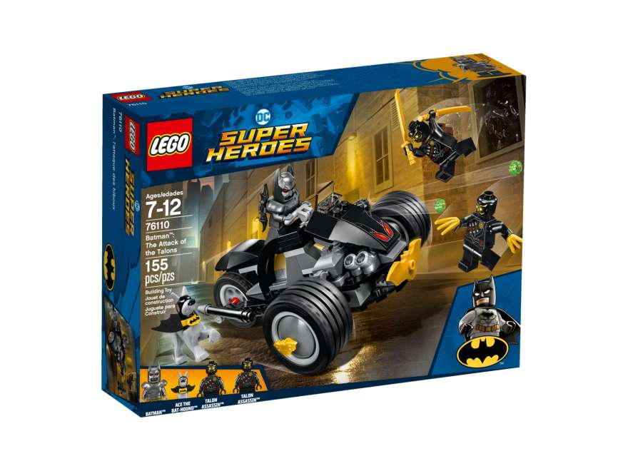 LEGO® DC Comics™ Super Heroes Batman™: The Attack of the Talons (76110) - Packung Vorderseite | ©2018 LEGO Gruppe
