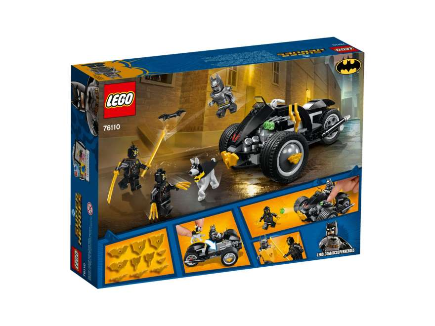 LEGO® DC Comics™ Super Heroes Batman™: The Attack of the Talons (76110) - Packung Rückseite | ©2018 LEGO Gruppe