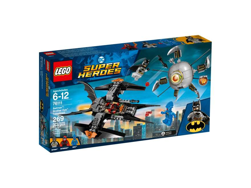 LEGO® DC Comics™ Super Heroes Batman™: Brother Eye™ Takedown (76111) - Packung Vorderseite | ©2018 LEGO Gruppe