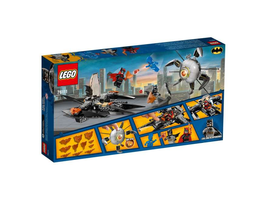 LEGO® DC Comics™ Super Heroes Batman™: Brother Eye™ Takedown (76111) - Packung Rückseite | ©2018 LEGO Gruppe
