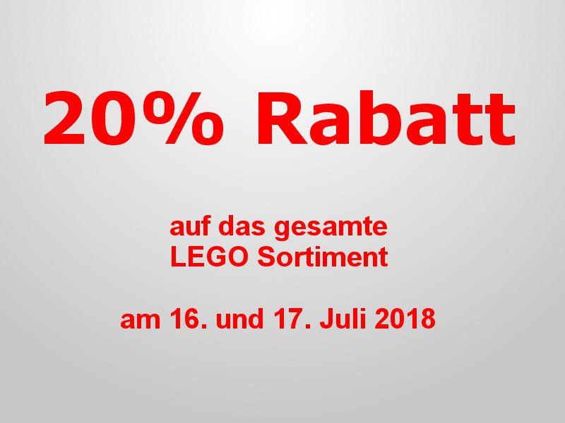 20% Rabatt auf LEGO bei Karstadt am 16./17.07.2018