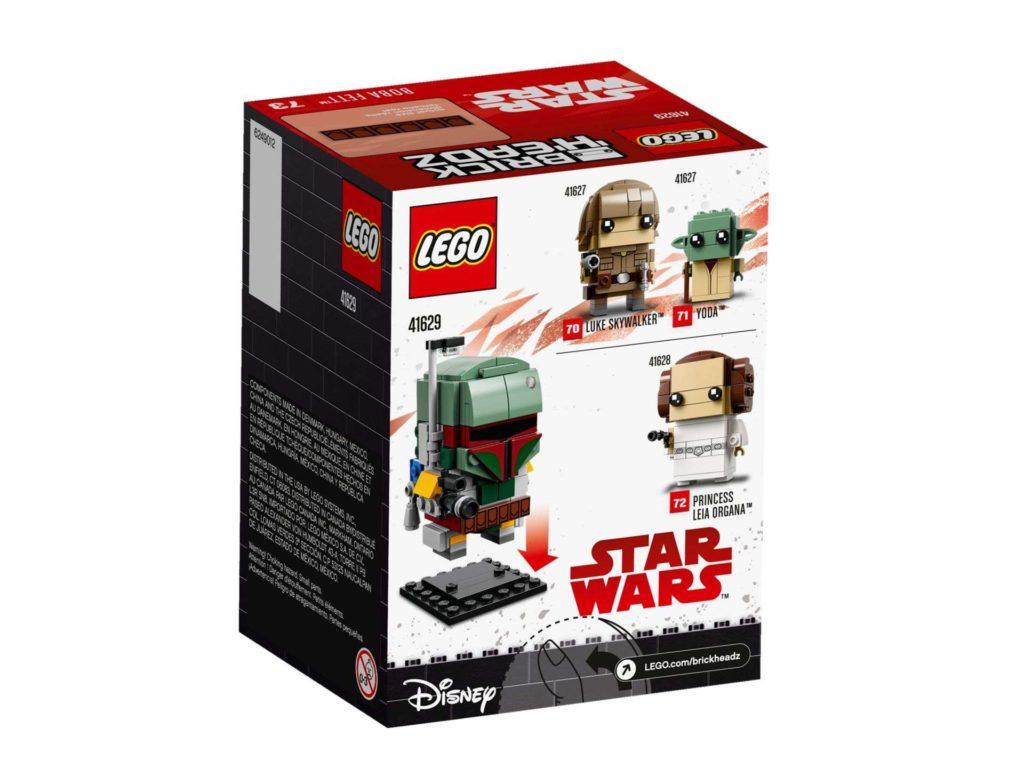 LEGO® Brickheadz™ Boba Fett™ (41629) - Packung Rückseite | ©2018 LEGO Gruppe