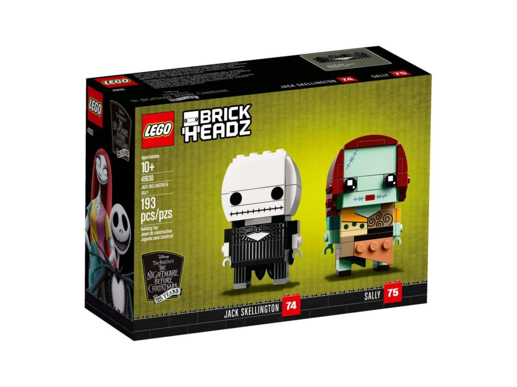 LEGO® Brickheadz™ Jack Skellington & Sally (41630) - Packung Vorderseite | ©2018 LEGO Gruppe