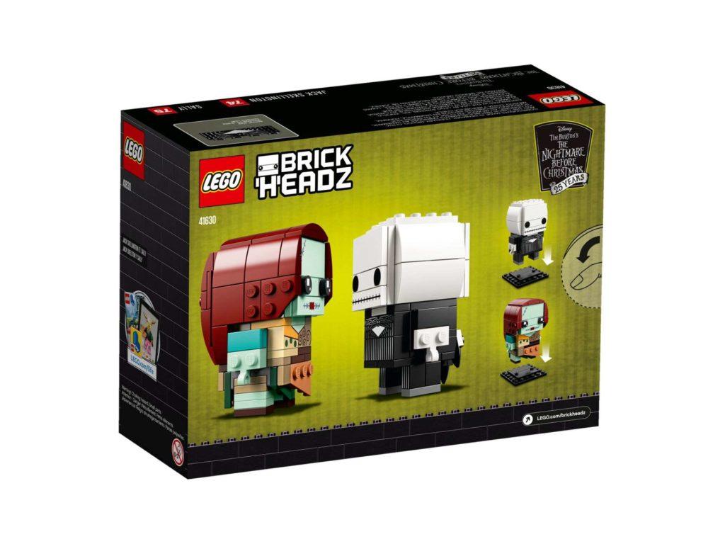 LEGO® Brickheadz™ Jack Skellington & Sally (41630) - Packung Rückseite | ©2018 LEGO Gruppe
