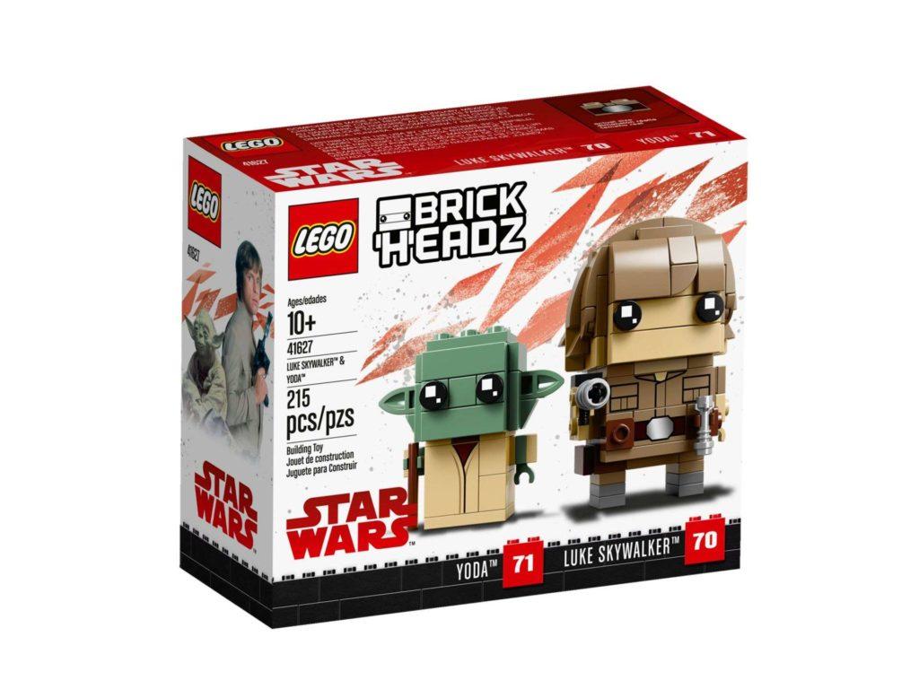 LEGO® Brickheadz™ Luke & Yoda™ (41627) - Packung Vorderseite | ©2018 LEGO Gruppe