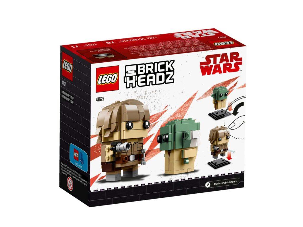 LEGO® Brickheadz™ Luke & Yoda™ (41627) - Packung Rückseite | ©2018 LEGO Gruppe