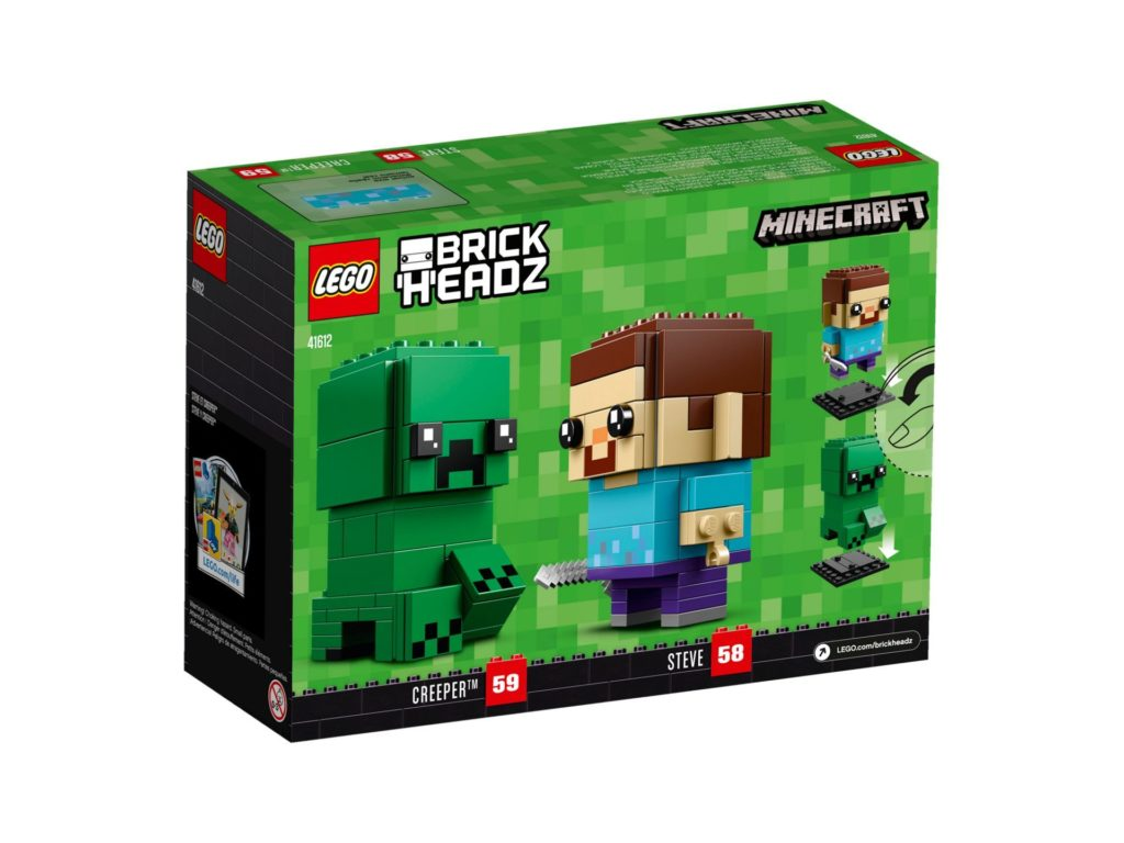 LEGO® Brickheadz™ Steve und Creeper (41612) - Bild 5 | ©LEGO Gruppe
