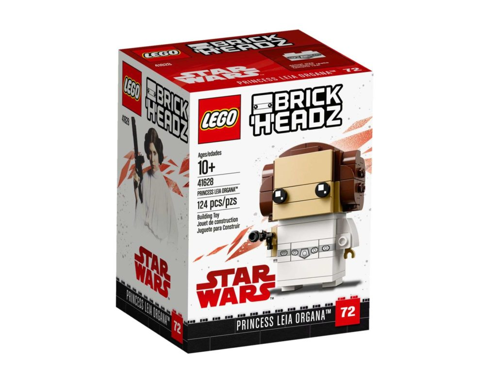 LEGO® Brickheadz™ Prinzessin Leia Organa™ (41628) - Packung Vorderseite | ©2018 LEGO Gruppe