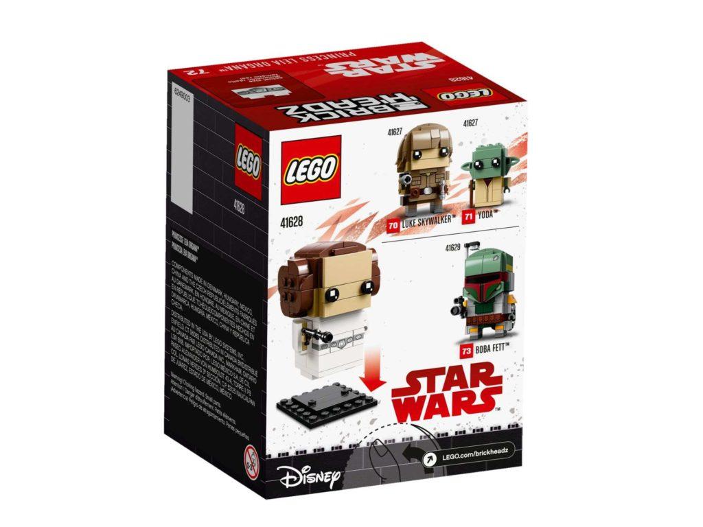 LEGO® Brickheadz™ Prinzessin Leia Organa™ (41628) - Packung Rückseite | ©2018 LEGO Gruppe