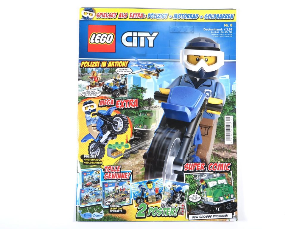 LEGO® City Magazin Nr. 8 - Cover ohne Polybag | ©2018 Brickzeit