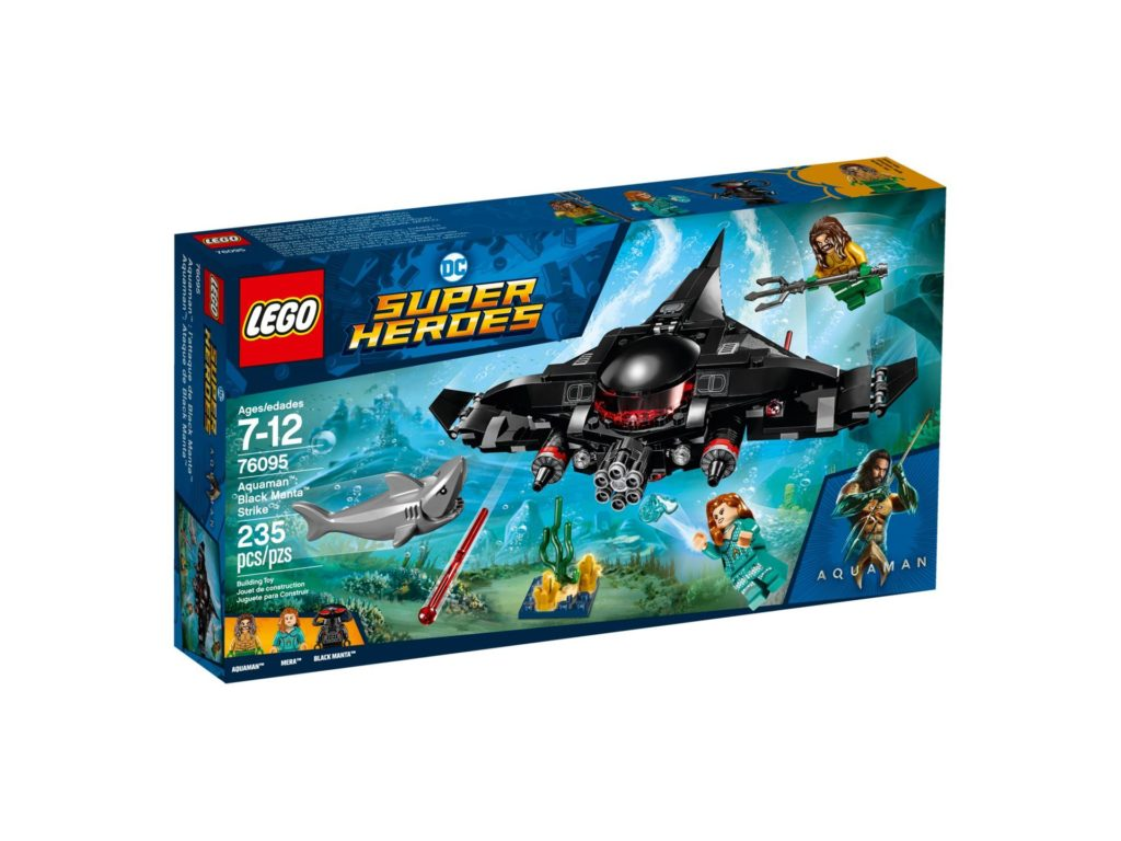 LEGO DC Comics Super Heroes Aquaman: Black Manta Strike - Packung Vorderseite | ®2018 LEGO Gruppe