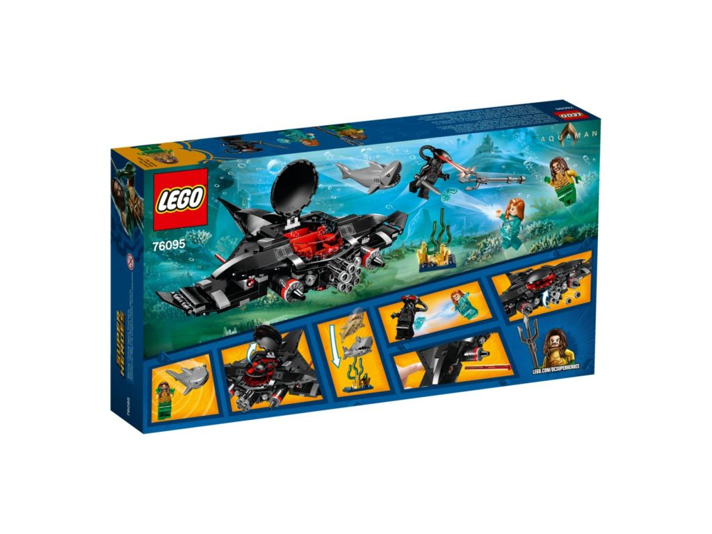 LEGO DC Comics Super Heroes Aquaman: Black Manta Strike - Packung Rückseite | ®2018 LEGO Gruppe