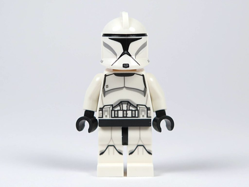 LEGO® Star Wars™ Jedi™ und Clone Troopers™ Battle Pack (75206) - Clone Trooper mit Helm, Vorderseite| ©2018 Brickzeit