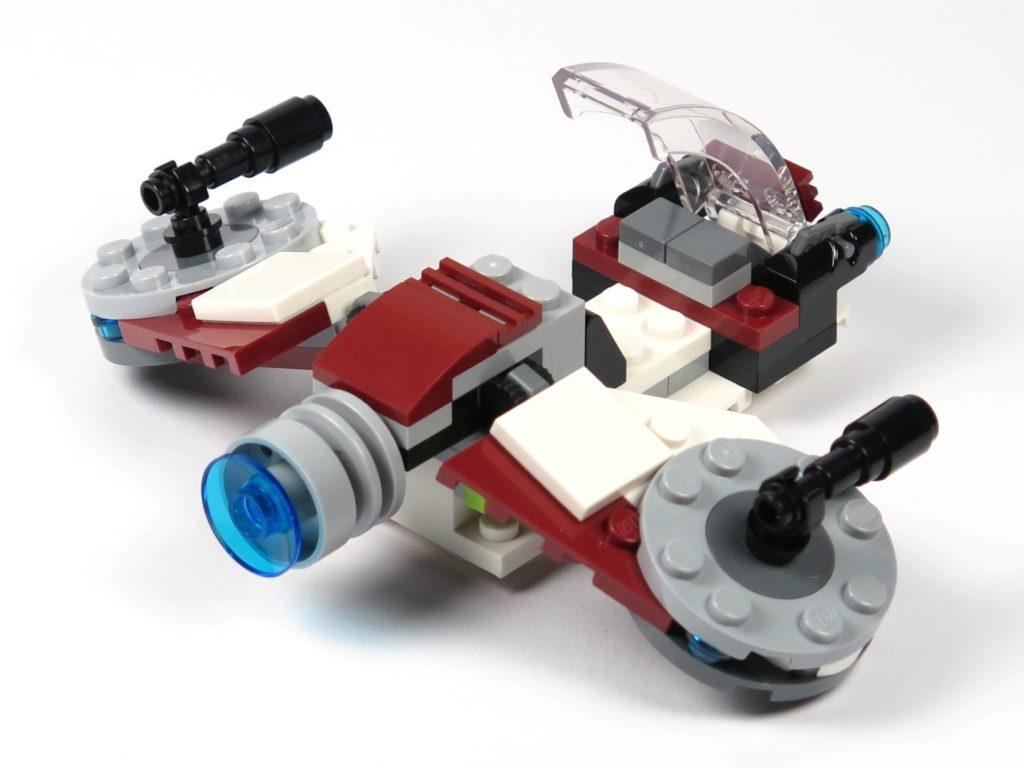 LEGO® Star Wars™ Jedi™ und Clone Troopers™ Battle Pack (75206) - Speeder rechts hinten | ©2018 Brickzeit