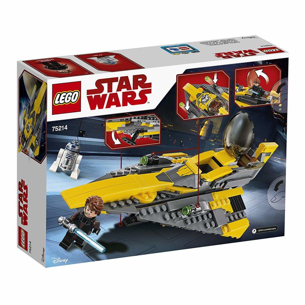 LEGO® Star Wars™ Anakins Jedi Starfighter (75214) Packung Rückseite | ©2018 LEGO Gruppe