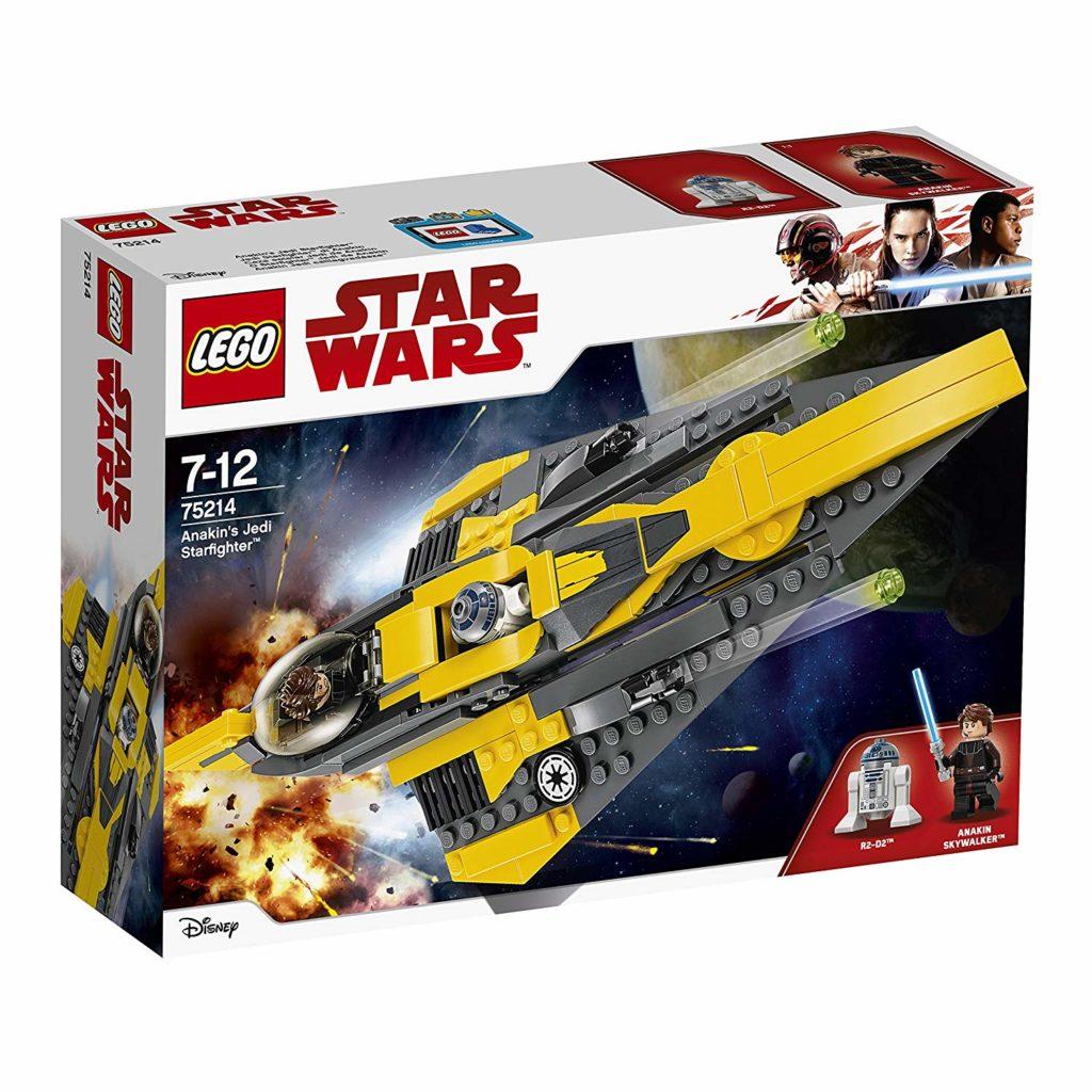 LEGO® Star Wars™ Anakins Jedi Starfighter (75214) Packung Vorderseite | ©2018 LEGO Gruppe