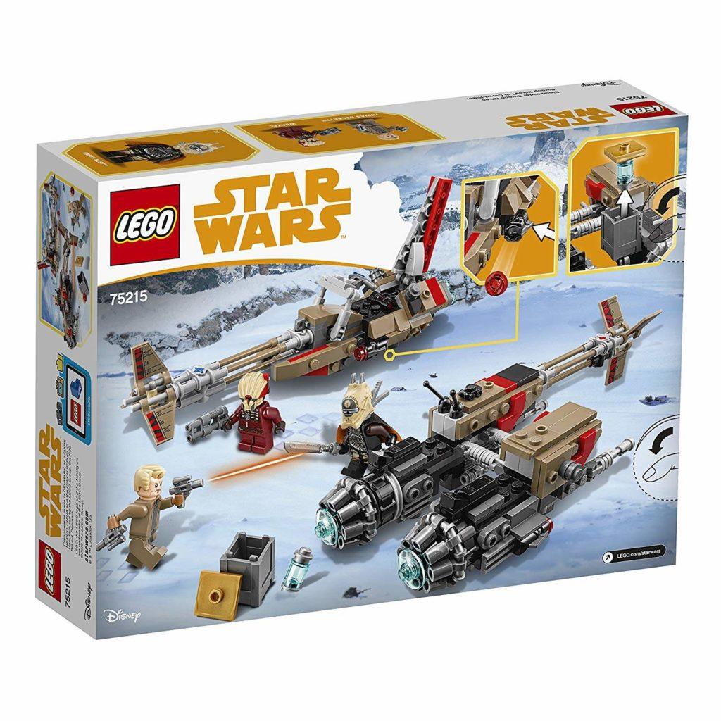 LEGO® Star Wars™ Cloud-Rider Swoop Bikes (75215) Packung Rückseite | ©2018 LEGO Gruppe