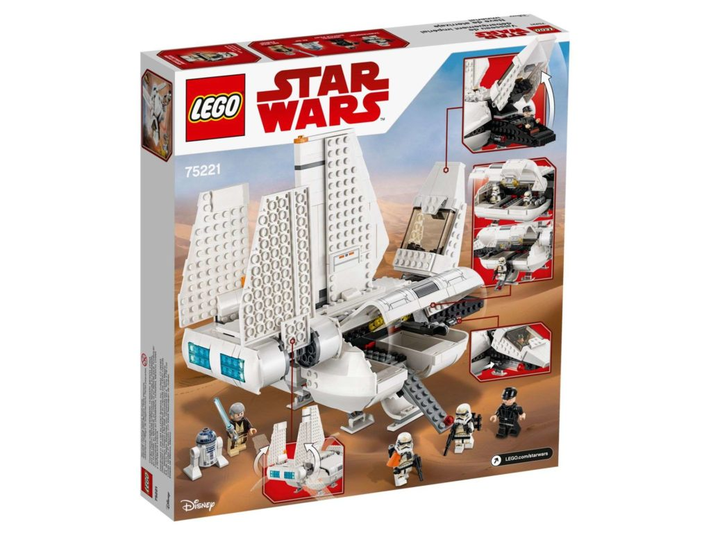 LEGO® Star Wars™ Imperiale Landefähre (75221) - Packung Rückseite | ©2018 LEGO Gruppe