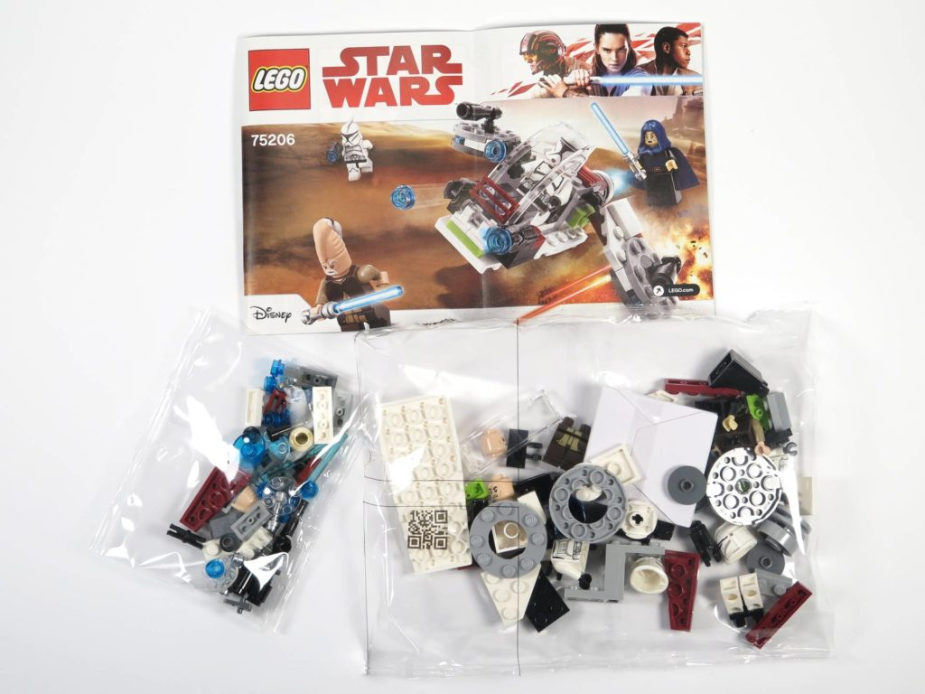 LEGO® Star Wars™ Jedi™ und Clone Troopers™ Battle Pack (75206) - Inhalt | ©2018 Brickzeit
