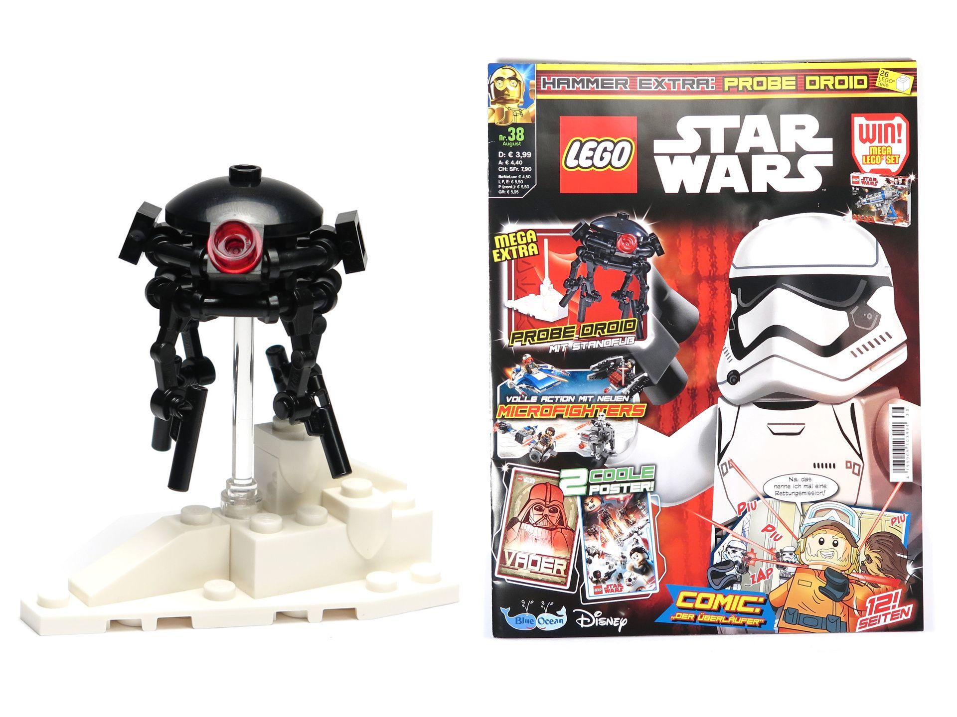 review lego star wars magazin nr 38 mit probe droid und aufsteller brickzeit. Black Bedroom Furniture Sets. Home Design Ideas