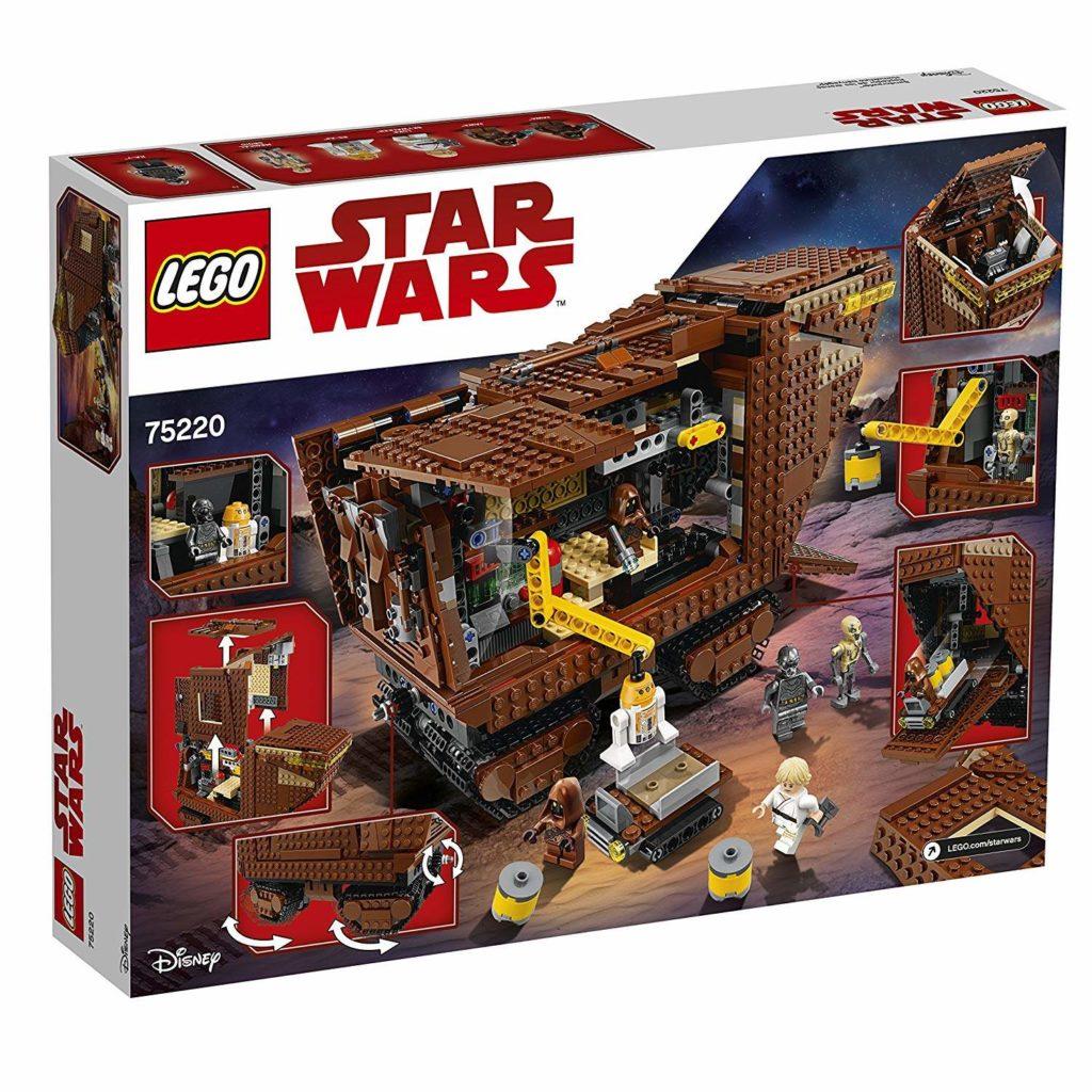 LEGO® Star Wars™ Sandcrawler (75220) Packung Rückseite | ©2018 LEGO Gruppe