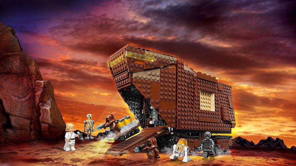 LEGO® Star Wars™ Sandcrawler (75220) Sandcrawler mit Hintergrund 2 | ©2018 LEGO Gruppe