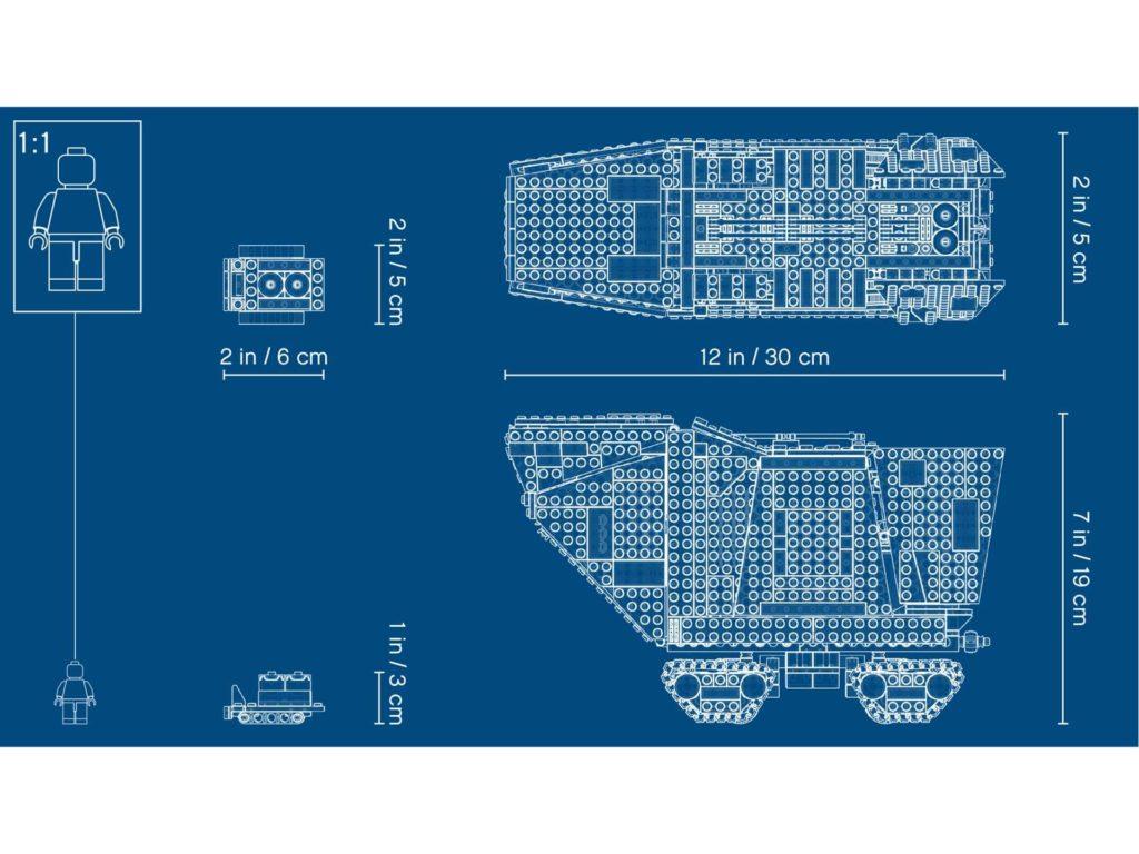 LEGO® Star Wars™ Sandcrawler (75220) - Blueprint | ©2018 LEGO Gruppe